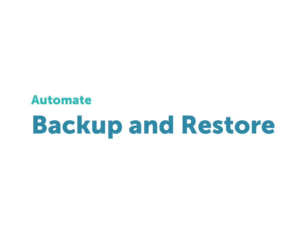 Backup and Restore Automate