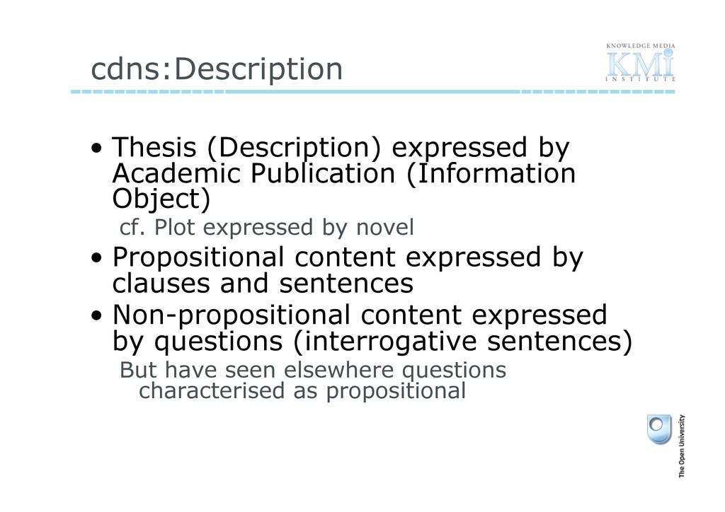 cdns:Description • Thesis (Description) expres...