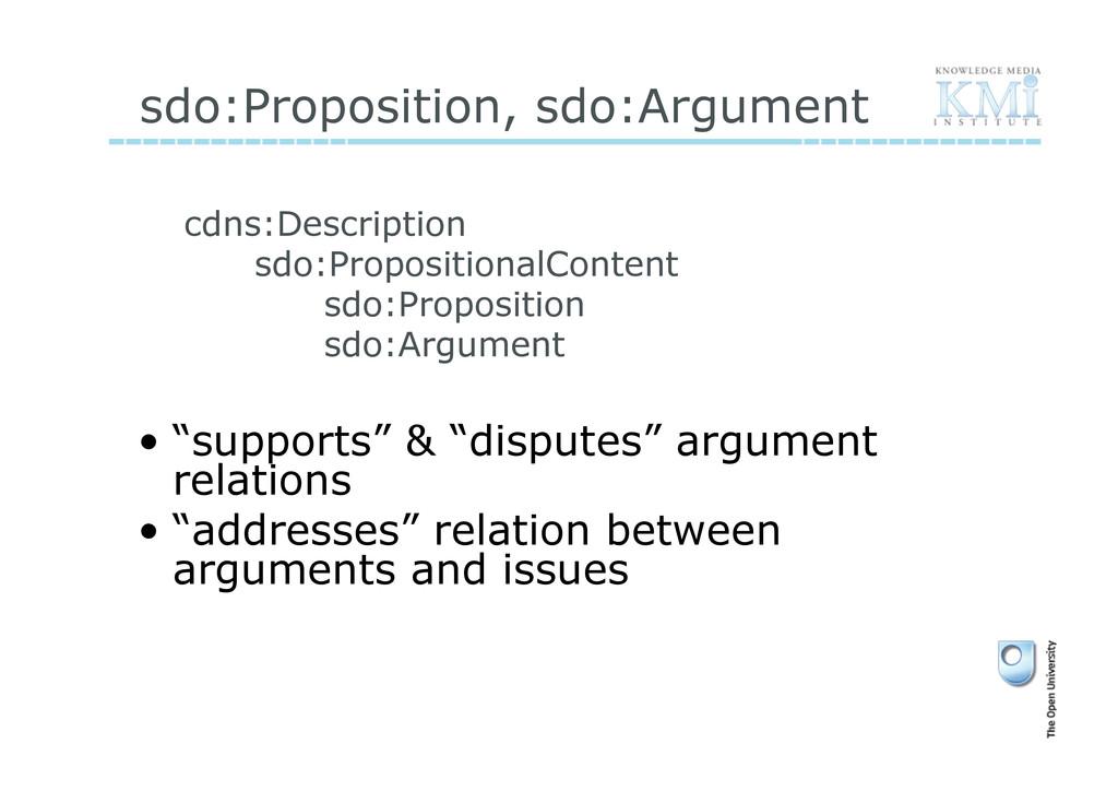 sdo:Proposition, sdo:Argument cdns:Description ...