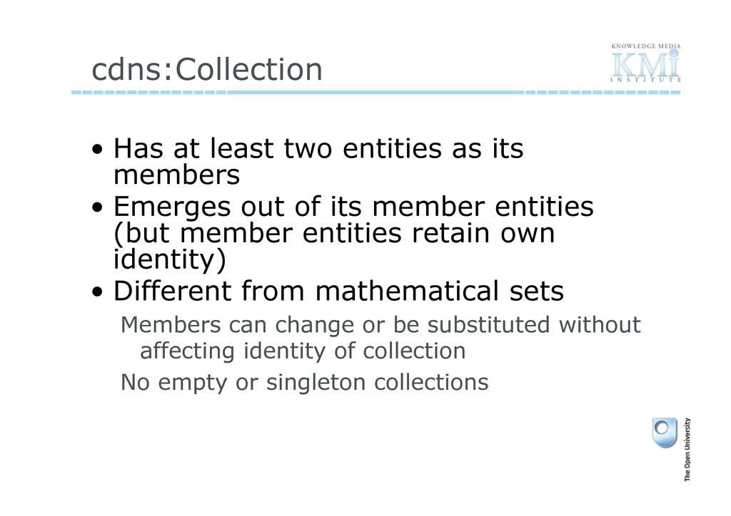 cdns:Collection • Has at least two entities as...