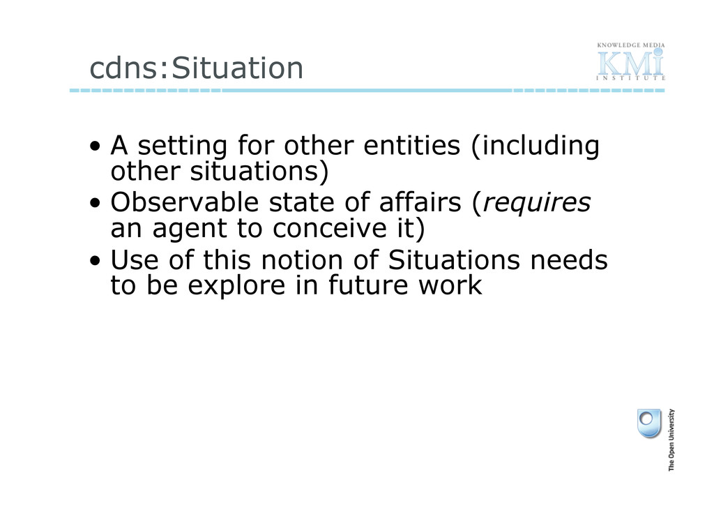 cdns:Situation • A setting for other entities ...