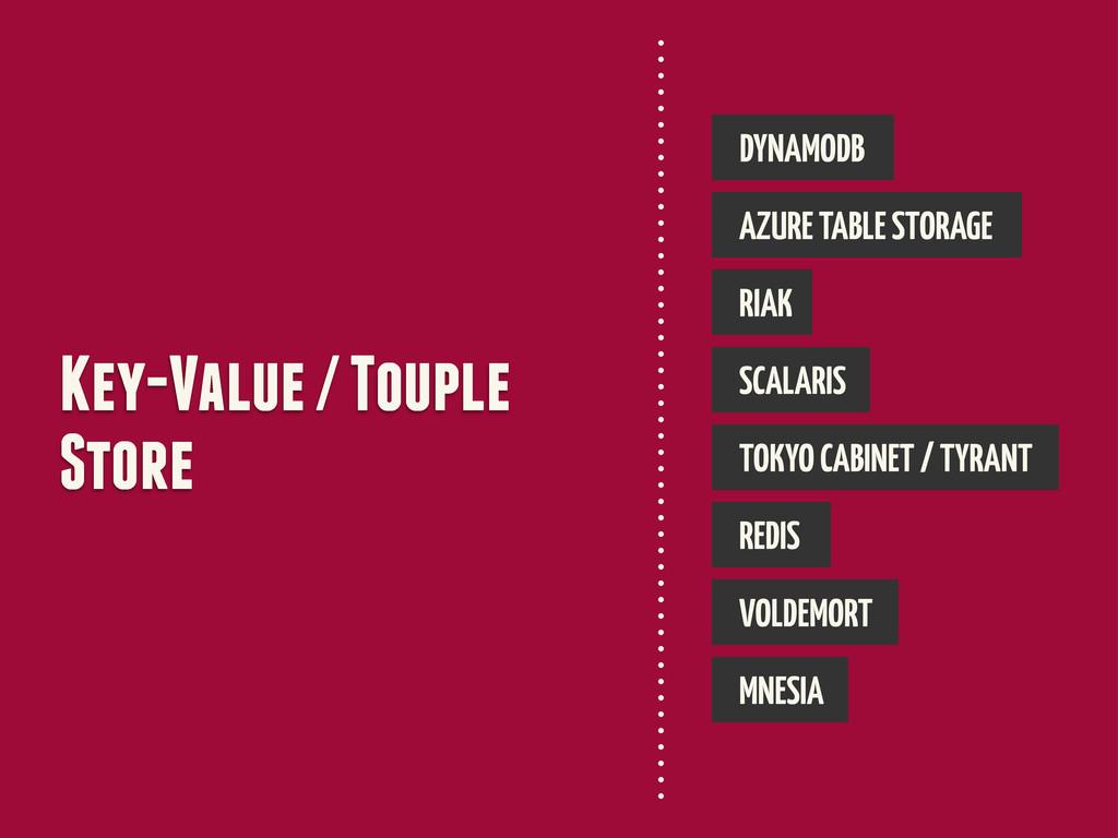 Key-Value / Touple Store DYNAMODB AZURE TABLE S...