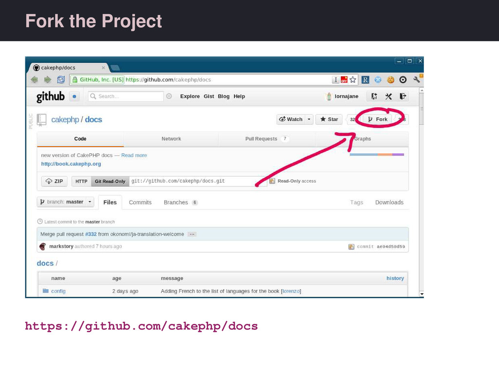 Fork the Project https://github.com/cakephp/docs