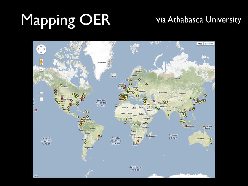 Mapping OER via Athabasca University