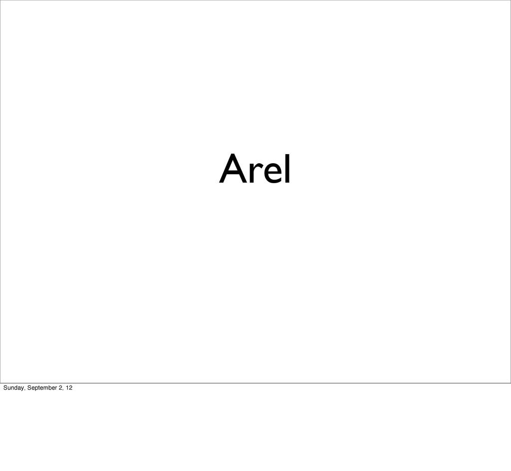 Arel Sunday, September 2, 12