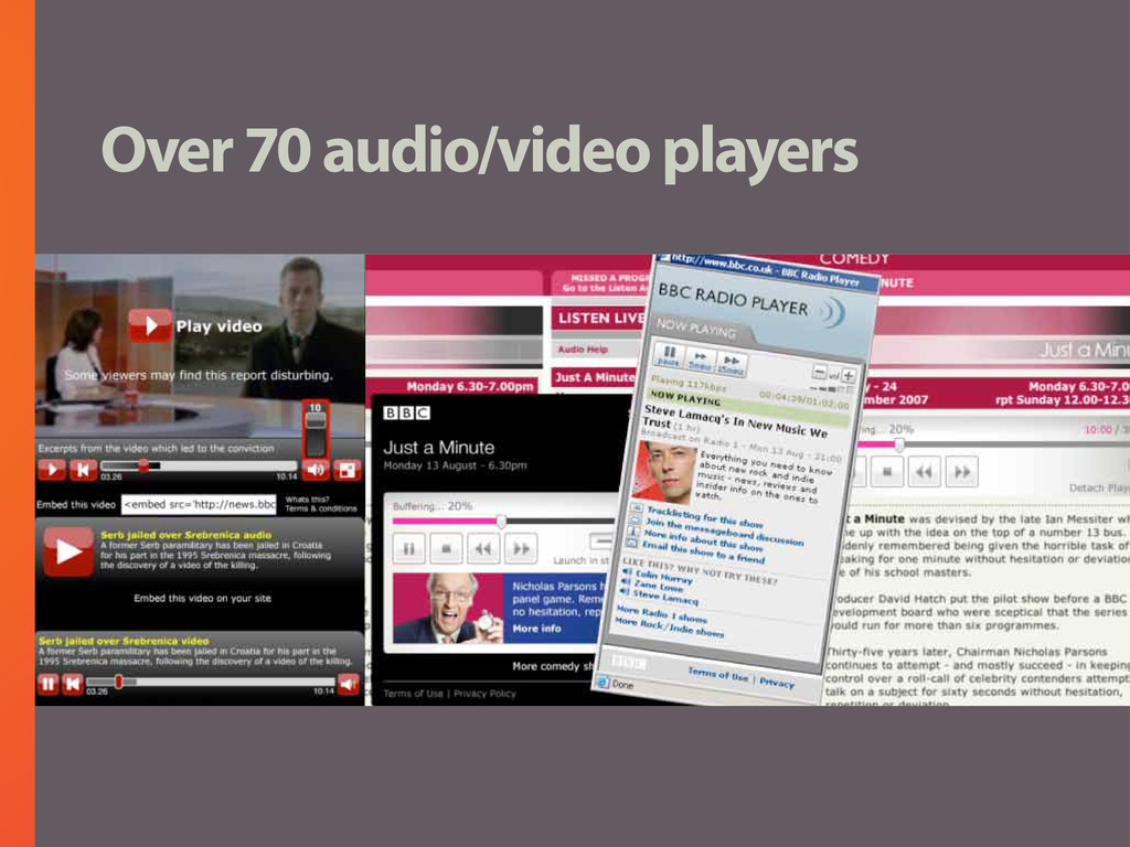 Over 70 audio/video players