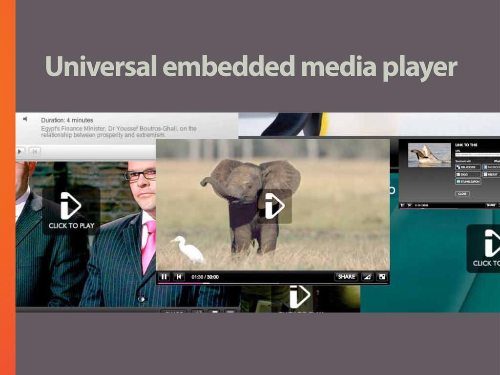 Universal embedded media player