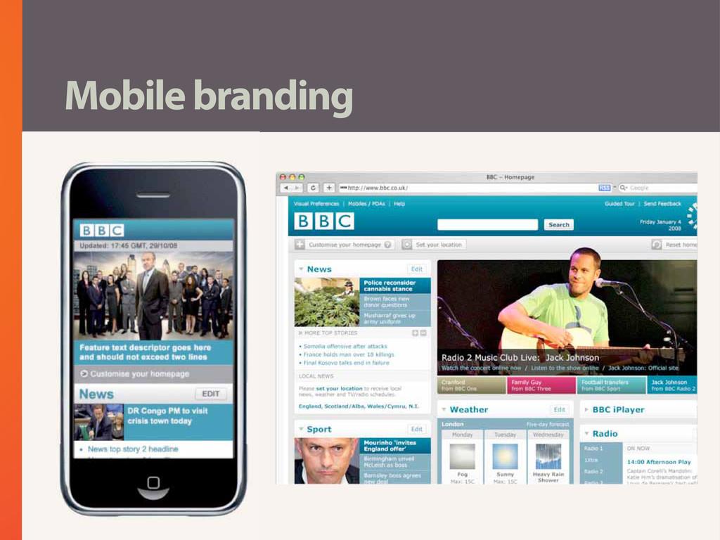 Mobile branding