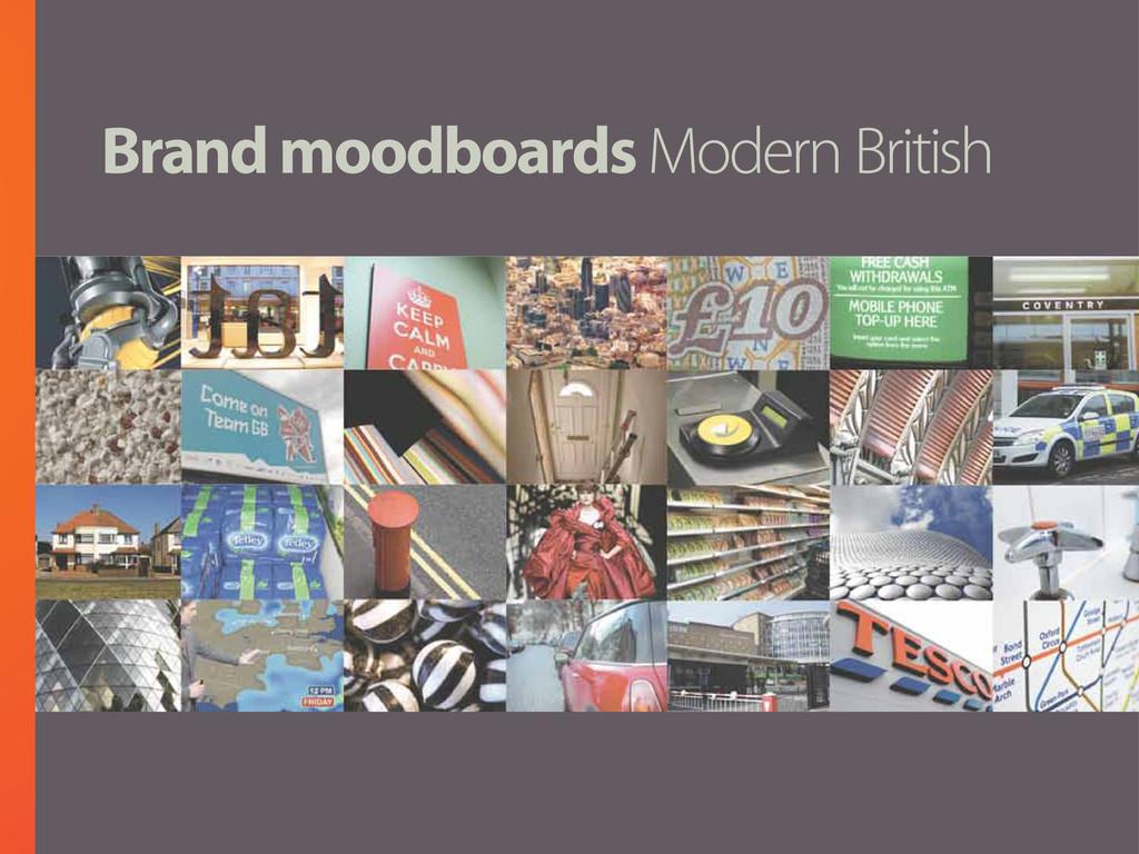 Brand moodboards Modern British