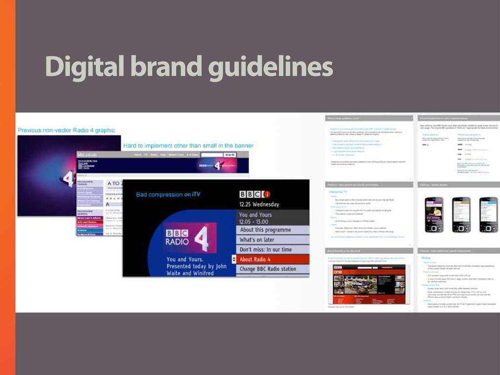 Digital brand guidelines