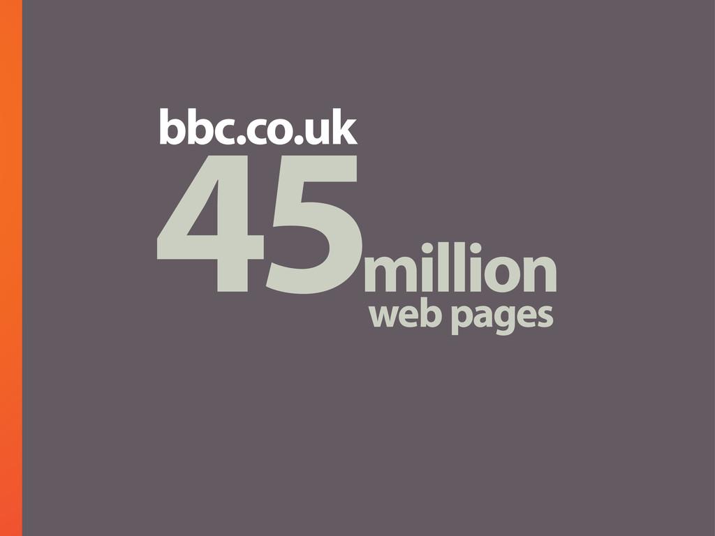 45million web pages bbc.co.uk