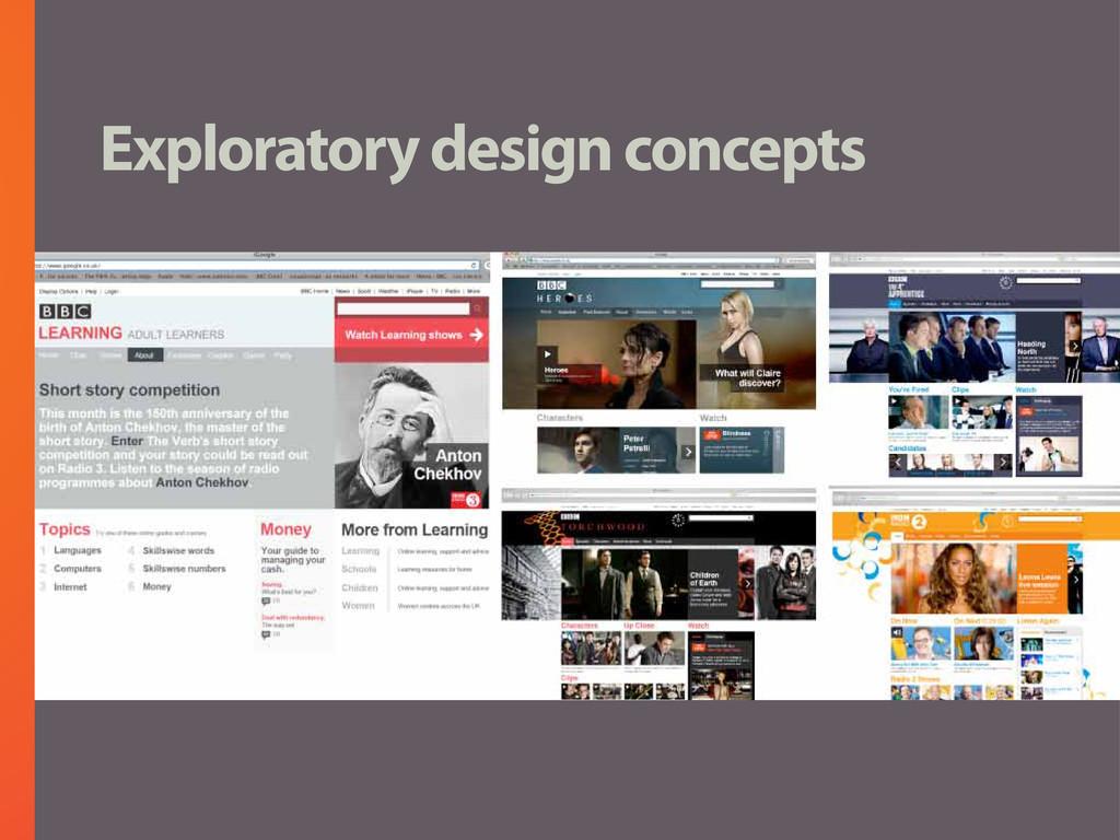Exploratory design concepts