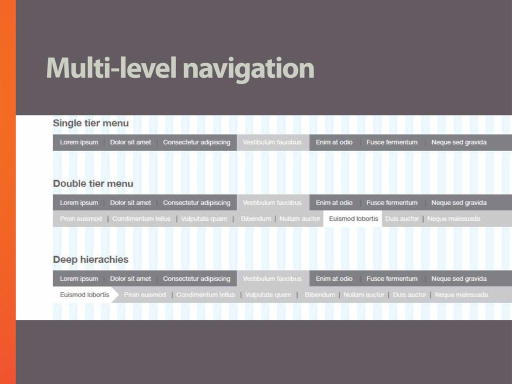 Multi-level navigation