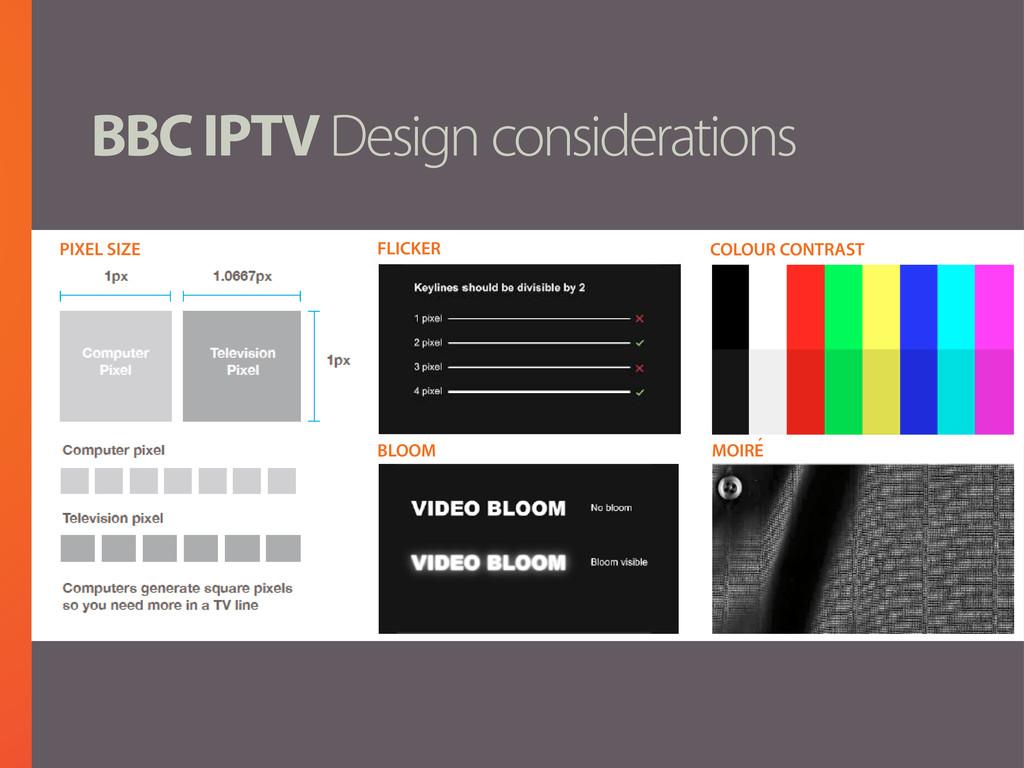 BBC IPTV Design considerations FLICKER BLOOM CO...