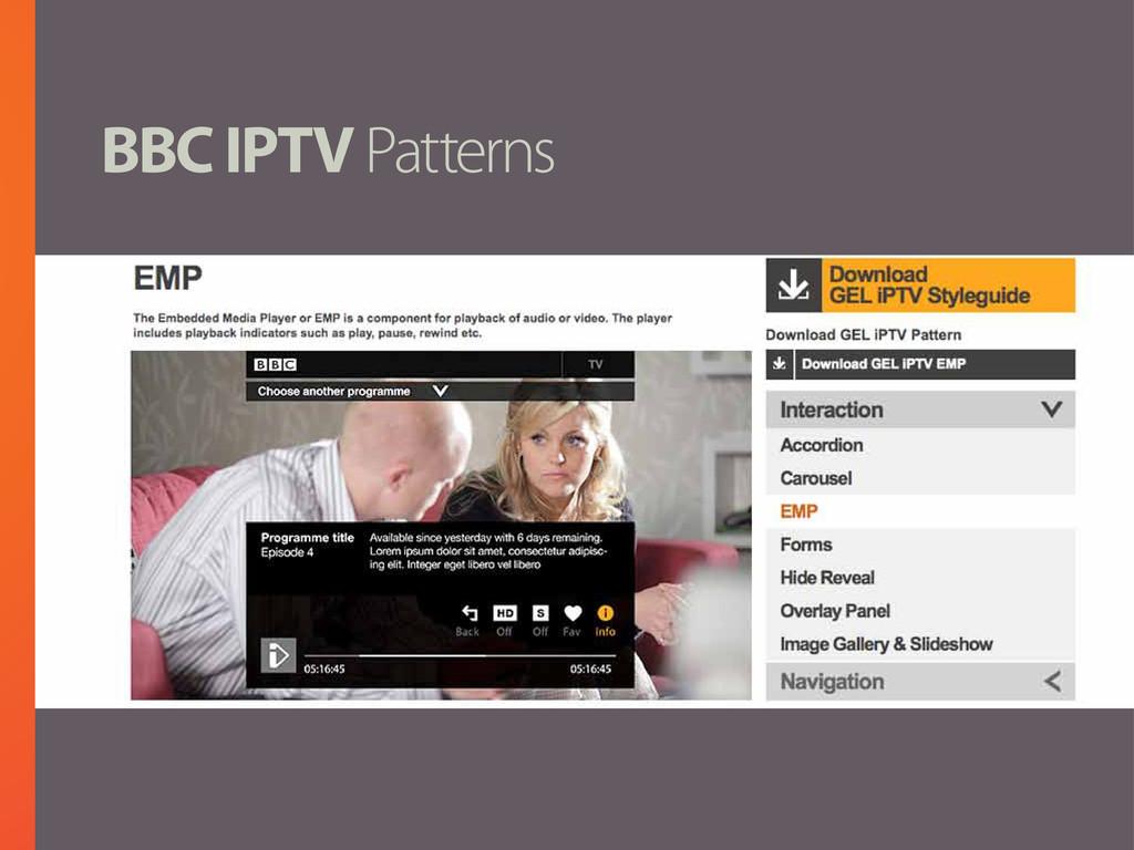 BBC IPTV Patterns