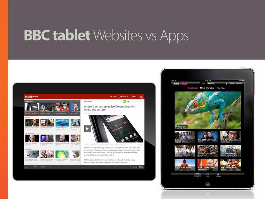 BBC tablet Websites vs Apps