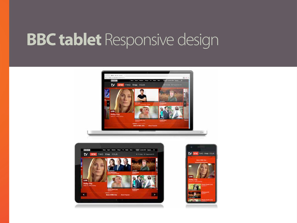 BBC tablet Responsive design