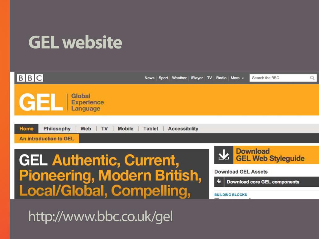 GEL website http://www.bbc.co.uk/gel