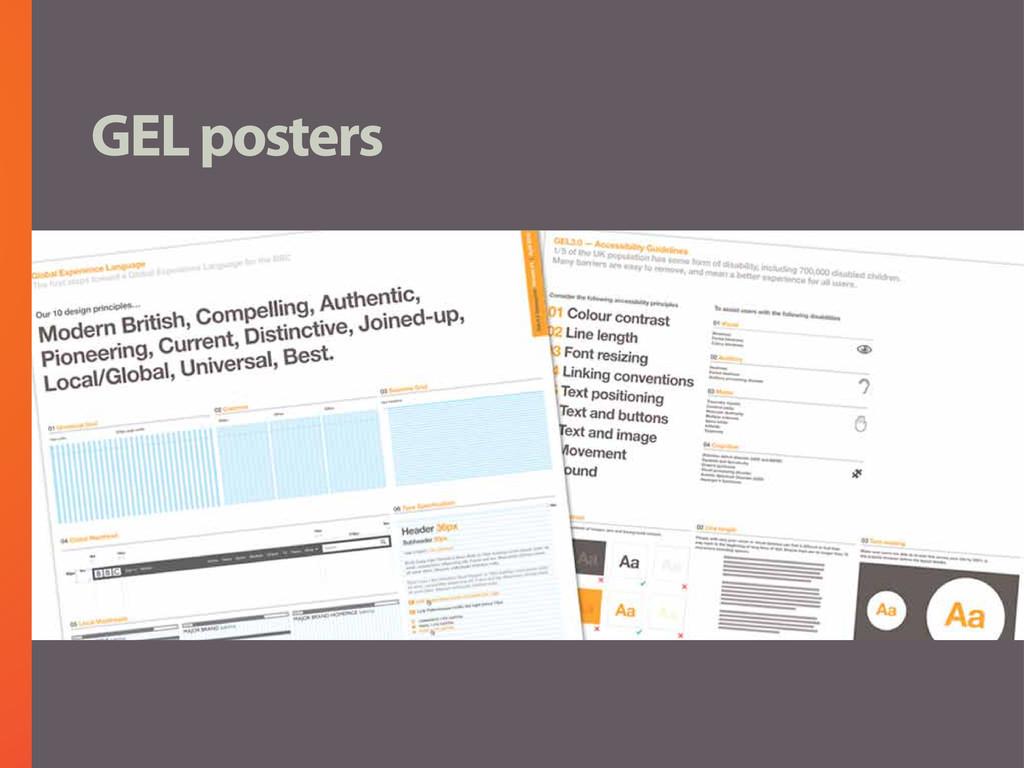 GEL posters