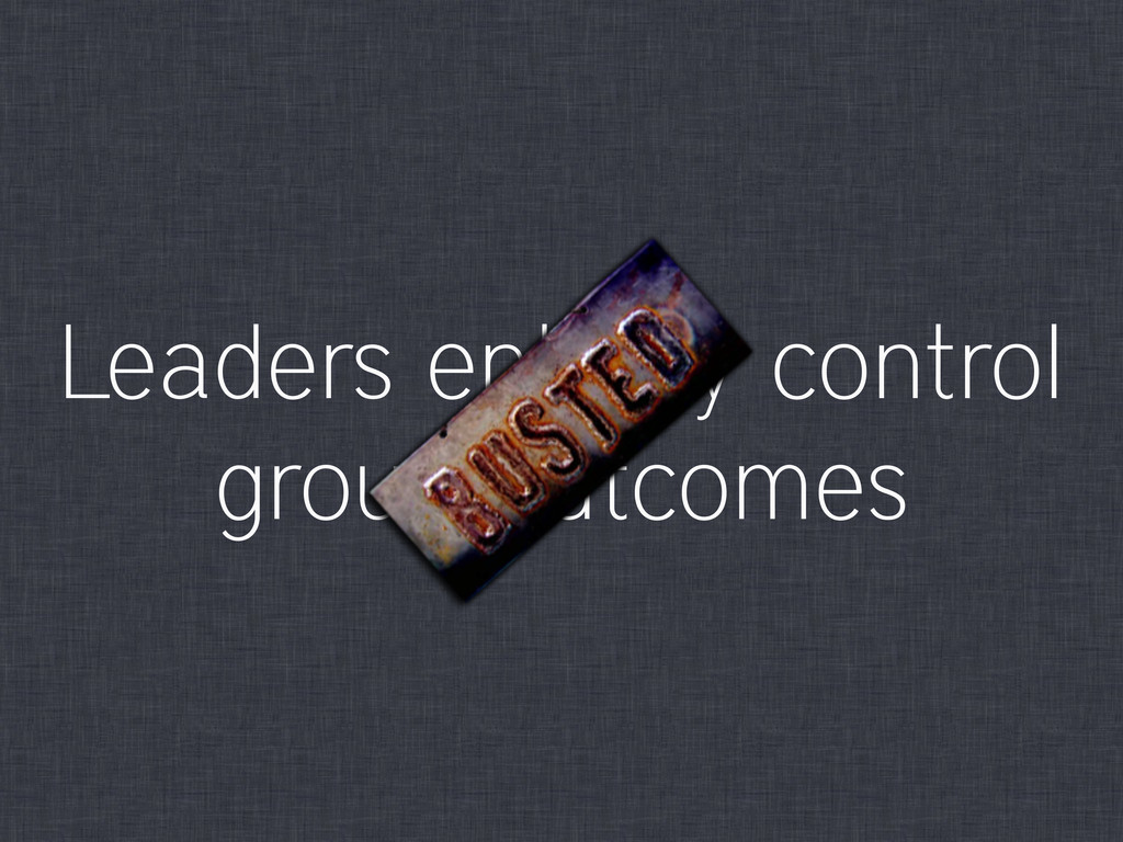 Leaders entirely control group outcomes
