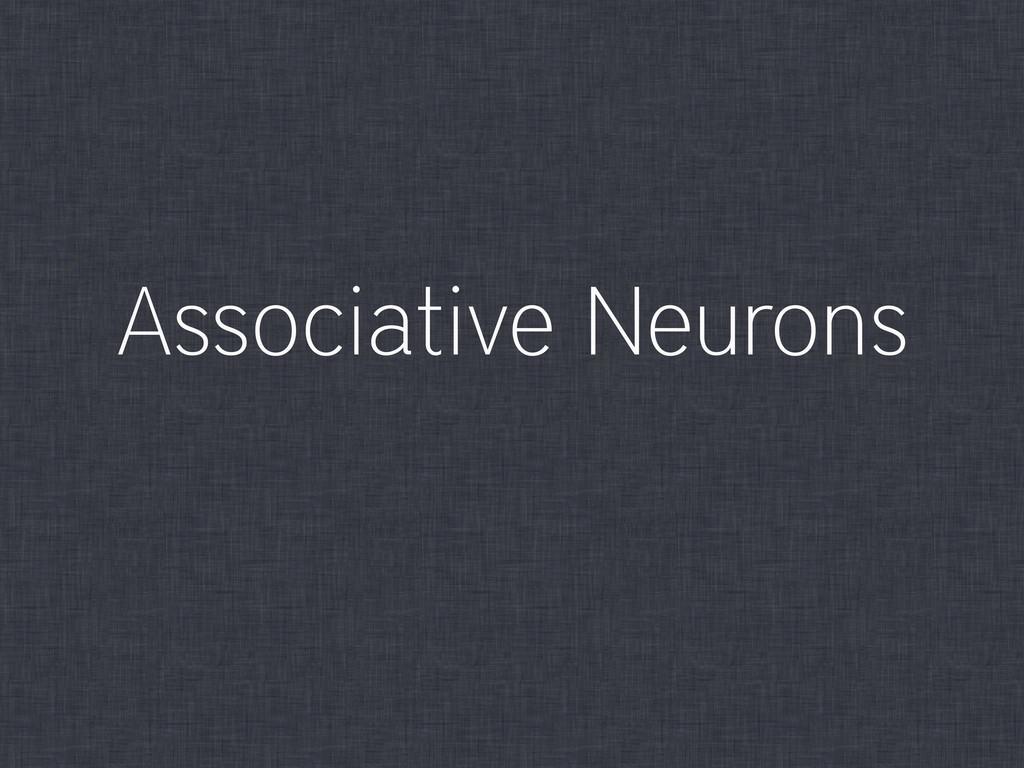 Associative Neurons