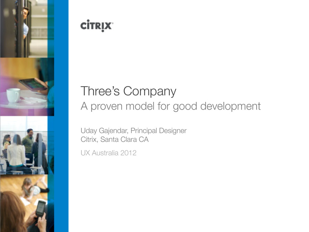 Three's Company A proven model for good develop...