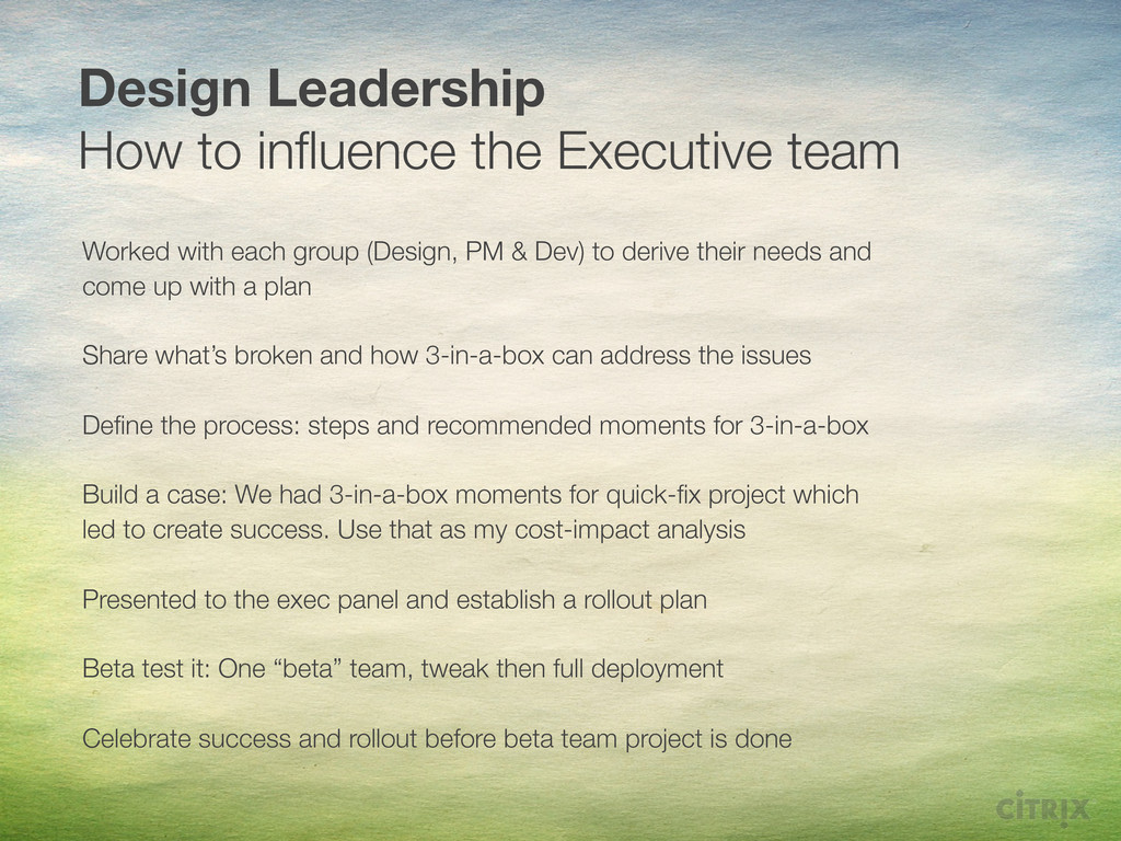Design Leadership How to influence the Executive...