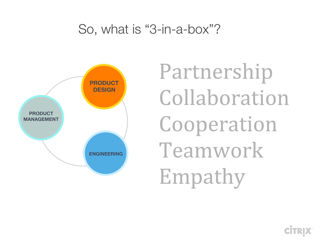 """So, what is """"3-in-a-box""""? PRODUCT  MANAGEMENT..."""