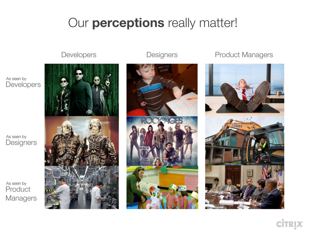 Our perceptions really matter! Developers Desig...