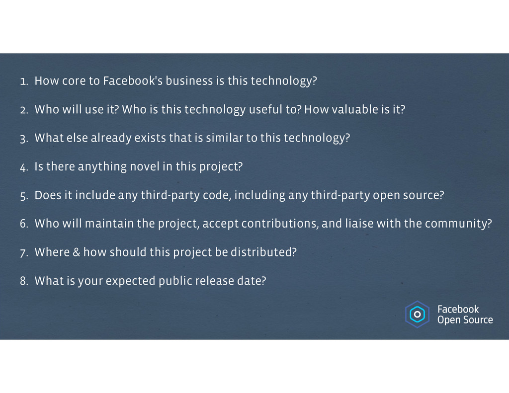 1. How core to Facebook's business is this tech...