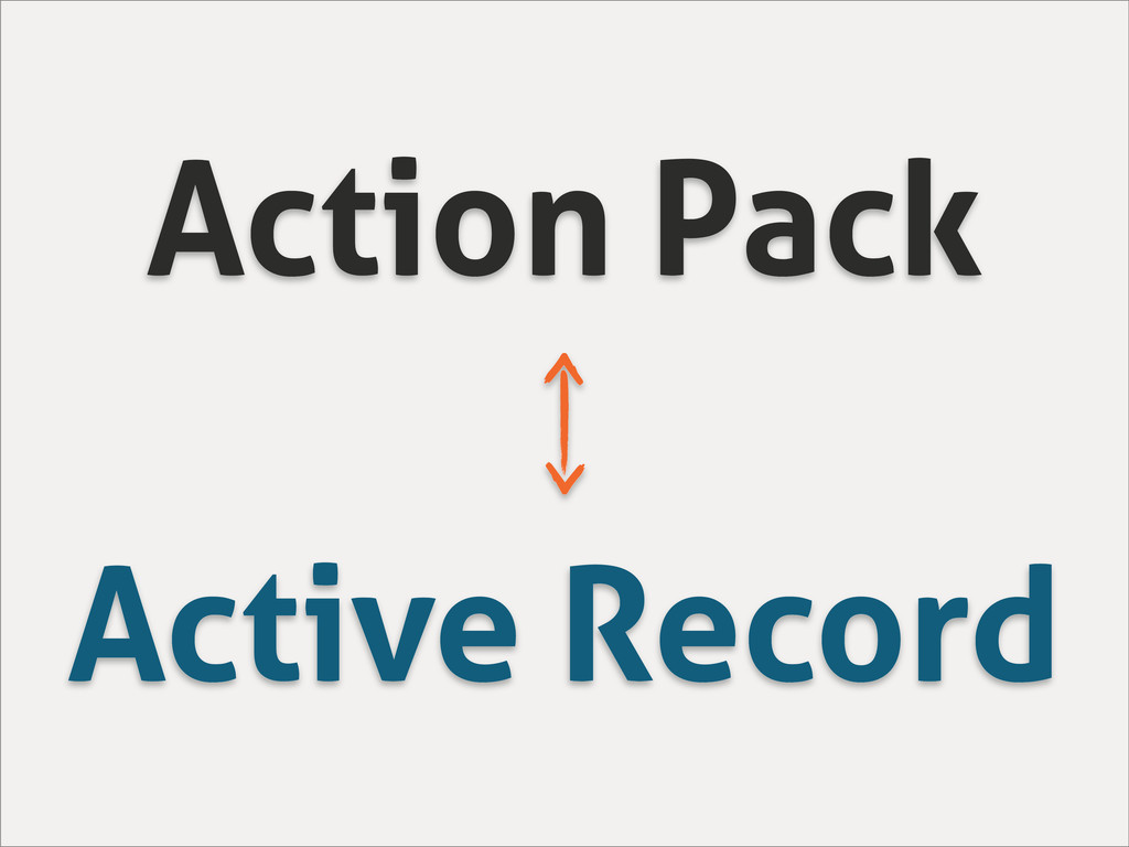 Action Pack Active Record