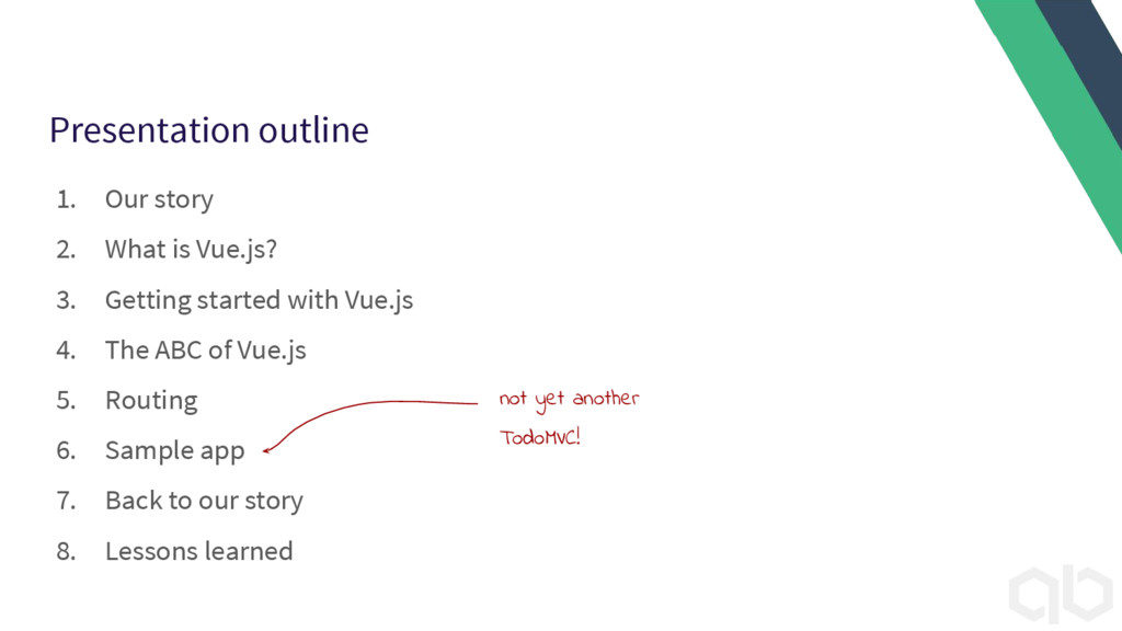 Presentation outline 1. Our story 2. What is Vu...