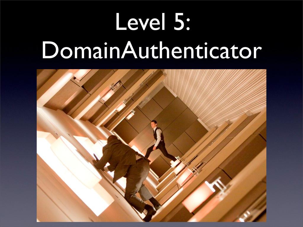 Level 5: DomainAuthenticator
