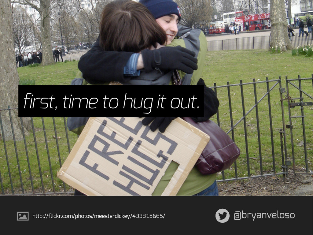 @bryanveloso first, time to hug it out. http://...