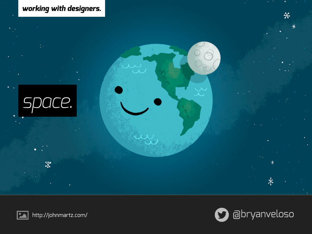 @bryanveloso space. working with designers. htt...