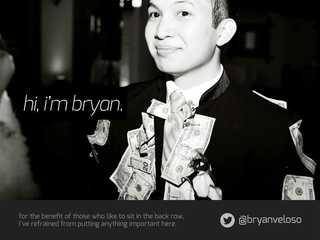 @bryanveloso for the benefit of those who like t...