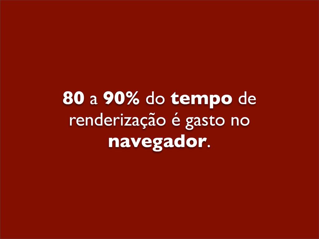 80 a 90% do tempo de renderização é gasto no na...