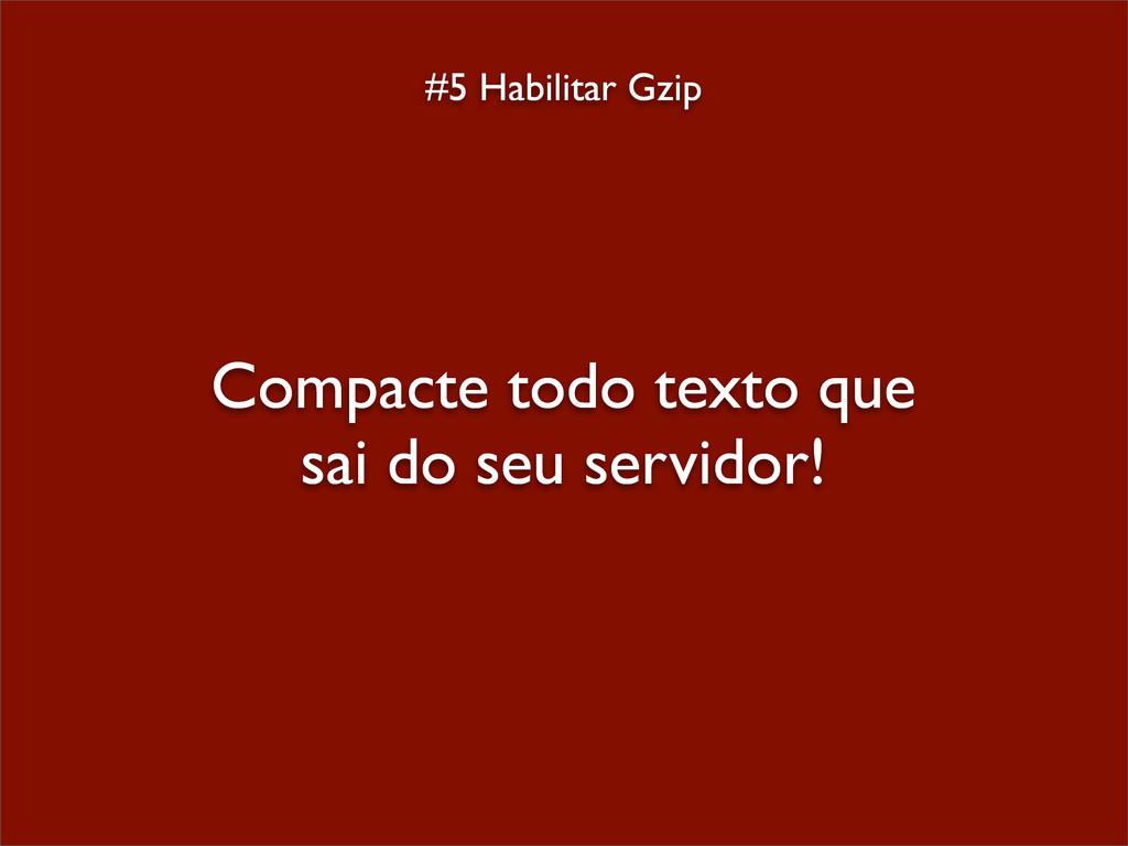 #5 Habilitar Gzip Compacte todo texto que sai d...