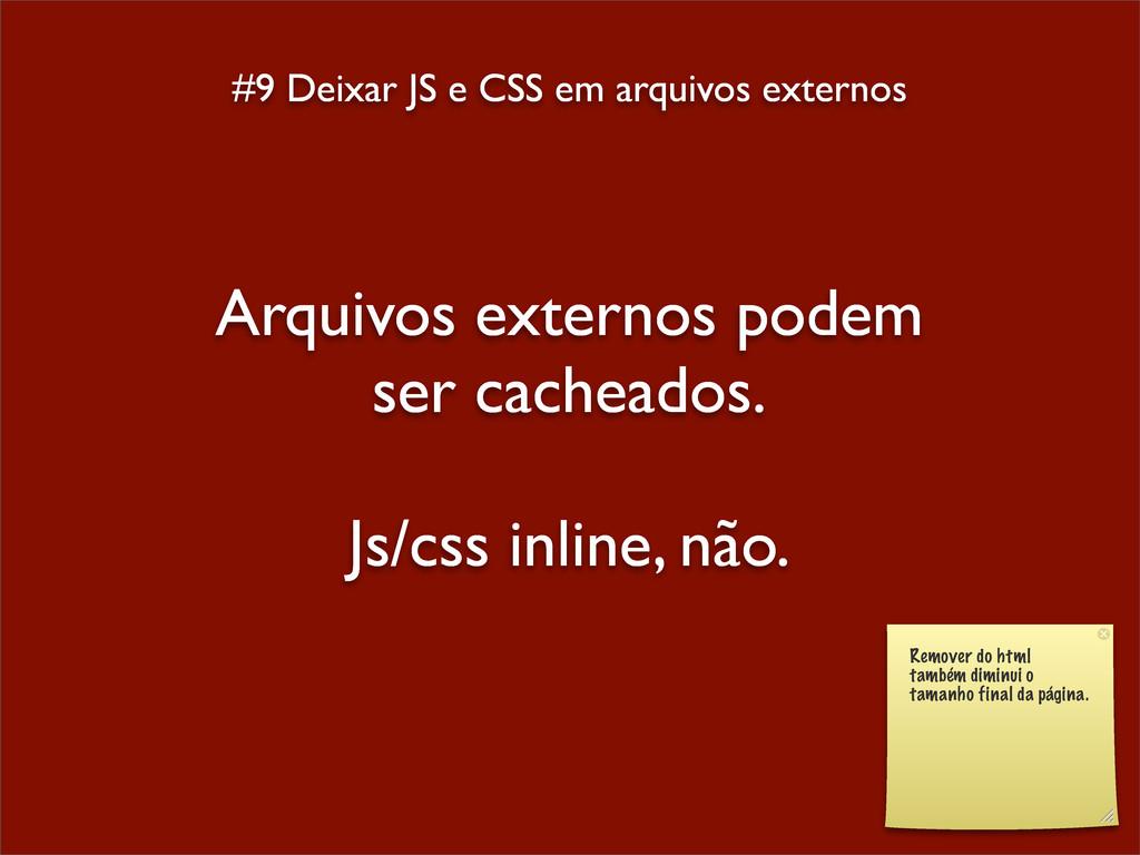 #9 Deixar JS e CSS em arquivos externos Arquivo...