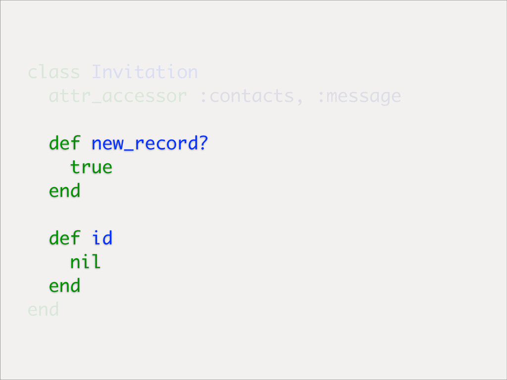 class Invitation attr_accessor :contacts, :mess...