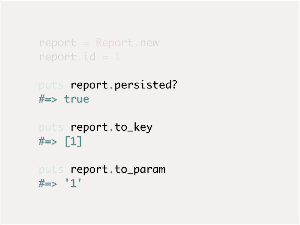 report = Report.new report.id = 1 puts report.p...