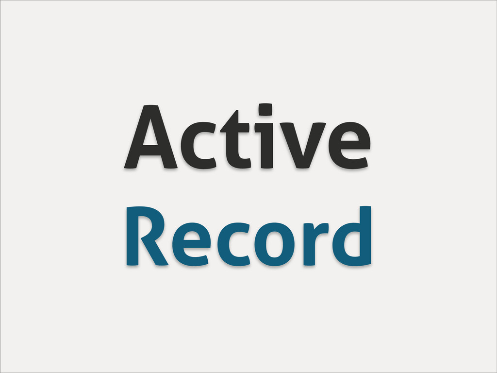 Active Record