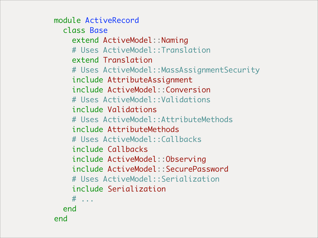 module ActiveRecord class Base extend ActiveMod...