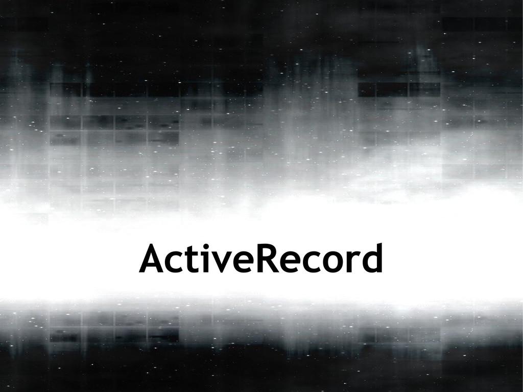 ActiveRecord