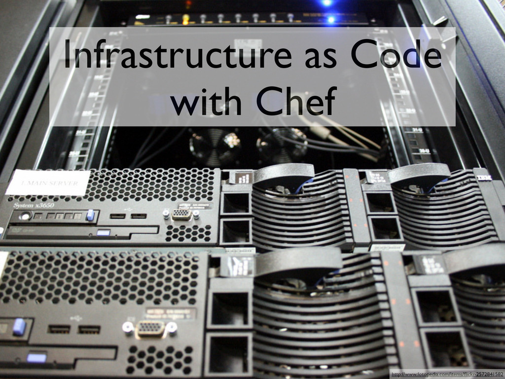 Infrastructure as Code with Chef http://www.fot...