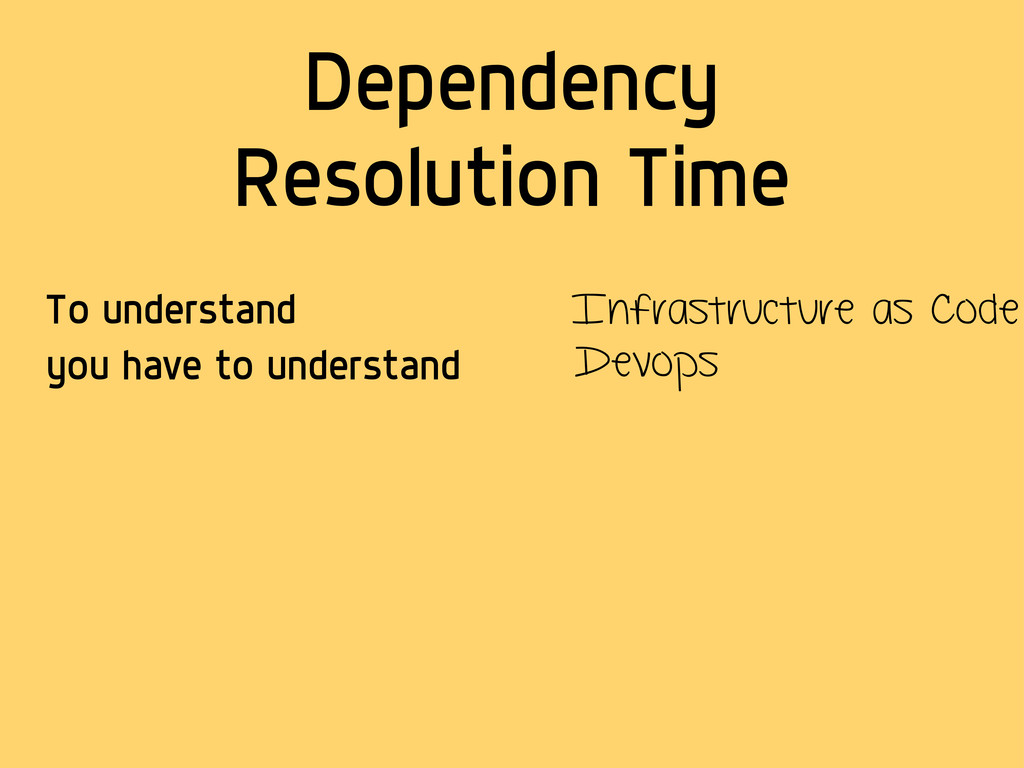 Dependency Resolution Time To understand you ha...