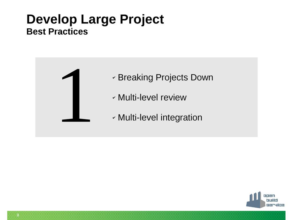 3 Develop Large Project Best Practices ✔ Breaki...