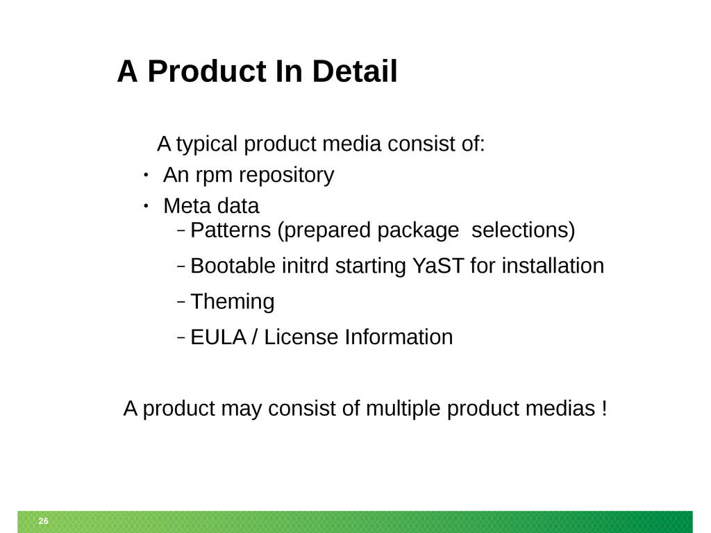 26 A Product In Detail A typical product media ...