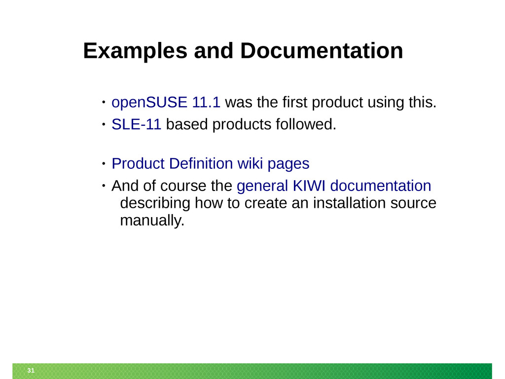 31 Examples and Documentation • openSUSE 11.1 w...