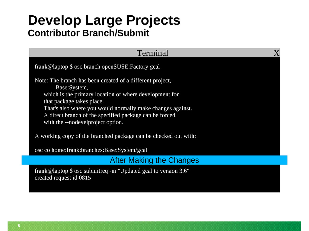 5 Terminal X Develop Large Projects Contributor...